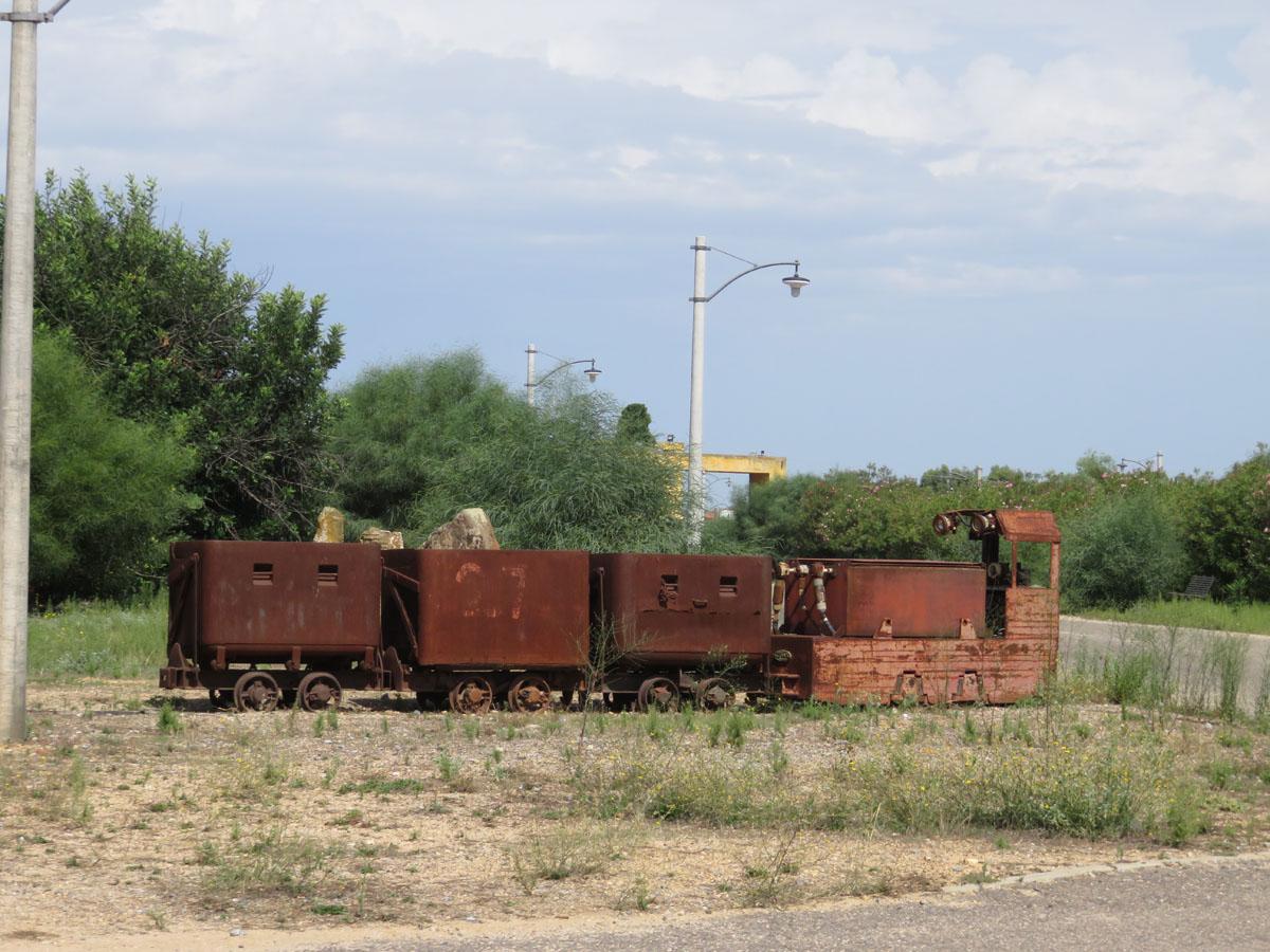 Tren miner abandonat