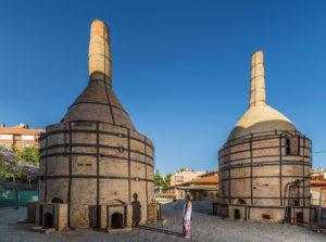 Forns d'ampolla del Museu de ceràmica La Rajoleta.